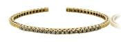 "1.00 ct. t.w. Diamond Tennis Style 18K Gold 7"" Cuff Bracelet"