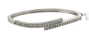 2.15 ct. t.w. Diamond Wave Bypass Bangle 14K Gold Bracelet