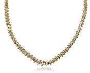6.85 ct. t.w. Round Diamond Graduated Tennis 14K Gold Necklace