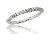 0.47 ct. t.w. Triple Row Diamond Stackable 14K Gold Band