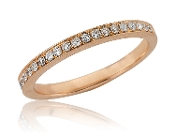 0.22 ct. t.w. Diamond Lined Eternity 14K Gold Band