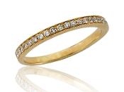 0.20 ct. t.w. Diamond Lined Eternity 14K Gold Band