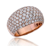 2.58 ct. t.w. Wide Band Sparkling Diamond 14K Gold Ring