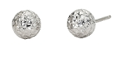 6.2mm Textured 'Disco Ball' 14K Gold Stud Earrings