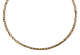 Lanyard Stitch Open Braid Tube 14K Gold Chain