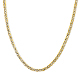 Unisex 16 Inch 14K Gold 3.0mm Diamond-Cut Mariner Link Chain