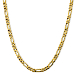 Solid 14K Gold 4.5mm 20 Inch Figaro Link Chain