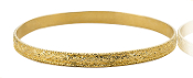 Solid 14K Gold Baroque Beaded Scroll Bangle Bracelet