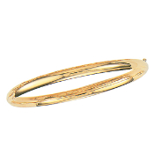 Polished 14 Karat Yellow Gold Solid Mirrored Bangle