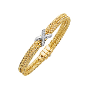 Diamond Accent Bangle Bracelet 14K 0.18CT