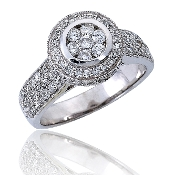 1.25 ct. t.w. Diamond Engagement 14K Gold Ring