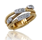 0.31 ct. t.w. Diamond Guitar String Style 14K Gold Ring