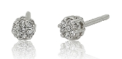 0.10 ct. t.w. Diamond Flower Cluster 14K Gold Stud Earrings