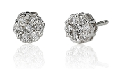 0.40 ct. t.w. Diamond Flower 14K Gold Studs