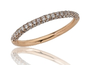 0.47 ct. t.w. Triple Row Diamond Stackable Band 14K Rose Gold