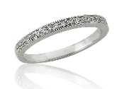 0.15 ct. t.w. Diamond Lined Eternity 14K Gold Band