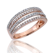 0.60 ct. t.w. Diamond Quad Split Row 14K Gold Ring