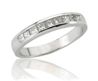 0.50 ct. t.w. Princess Diamond Wedding Eternity 14K Gold Band