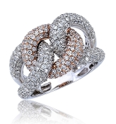 2.60 ct. t.w. Pave Diamond Love Knot 14K Gold Ring