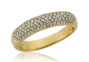 0.41 ct. t.w. Micro-Pave Diamond 14K Gold Band