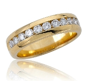 0.50 ct. t.w. Brilliant Round Diamond Wedding 18K Gold Band