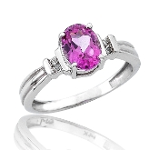 0.05 ct. t.w. Diamond & Oval Cut Pink Tourmaline 14K Gold Ring
