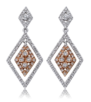0.55 ct. t.w. Diamond Double Drop 14K Gold Earrings