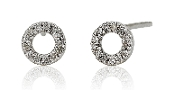 0.10 ct. t.w. Diamond Stud Circle 14K Gold Earrings