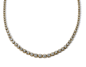 7.52 ct. t.w. Brilliant Round Diamond Tennis 14K Gold Necklace