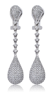 1.67 ct. t.w. Diamond Teardrop 14K Gold Earrings