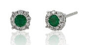 0.52 ct. t.w. Emerald & Diamond 14K Gold Studs