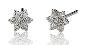 0.37 ct. t.w. Diamond Starburst 14K Gold Studs