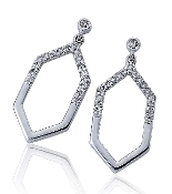0.10 ct. t.w. Diamond Hexagon 14K Gold Drop Earrings