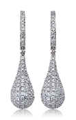 2.77 ct. t.w. Pave Diamond Teardrop 14K Gold Earrings