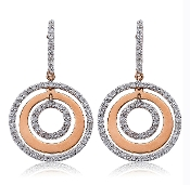 0.49 ct. t.w. Diamond Drop Eternity Circles 14K Gold Earrings