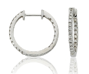 0.55 ct. t.w. Brilliant Round Cut Diamond 14K Gold Hoops