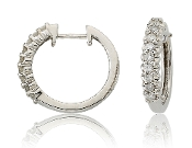 Enchanted 0.20 ct. t.w. Nine Diamond 10K Gold Hoops