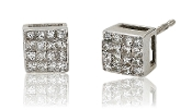 0.32 ct. t.w. Princess-Cut Cube 14K Gold Stud Earrings