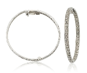 0.40 ct. t.w. Diamond 14K Gold Hoop Earrings