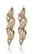 0.20 ct. t.w. Diamond French Twist Drop 14K Gold Earrings