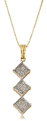 0.50 ct. t.w. Diamond Triple Drop 14K Gold Pendant