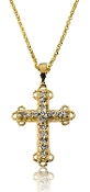 0.30 ct. t.w. Diamond Holy Trinity Cross 14K Gold Pendant