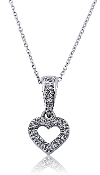 0.10 ct. t.w. Pave Open Heart Diamond 10K Gold Pendant