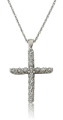 0.45 ct. t.w. Brilliant Round Diamond Cross 14K Gold Pendant