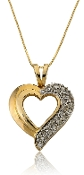0.45 ct. t.w. Diamond Heart Outline 14K Gold Pendant