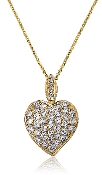 1.85 ct. t.w. Brilliant Diamond Pave Heart 14K Gold Pendant