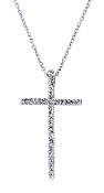 Divine 0.13 ct. t.w. Diamond Cross Slide 14K Gold Pendant