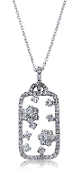 0.74 ct. t.w. Diamond Floral Bouquet 14K Gold Pendant