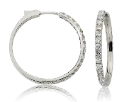 1.58 ct. t.w. Diamond 14K Gold Hoop Earrings