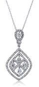 1.15 ct. t.w. Diamond Quad Drop Chandelier 14K Gold Pendant